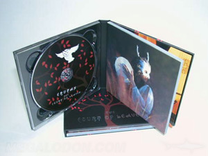 cd book packaging foil stamping