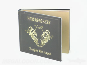 hardbound cd book packaging printing gold foil and perfect bound inner pages