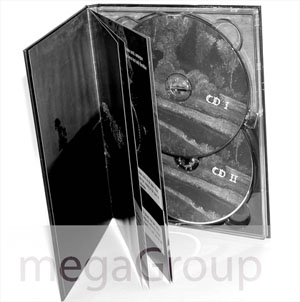 DVD book double disc tray