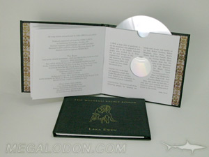 CD book packaging swinging sleeve die cut center