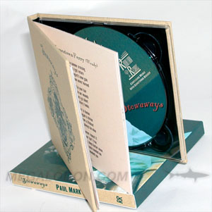 linen wrapped cd book tray slipcase