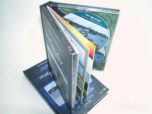 multidisc book double disc trays